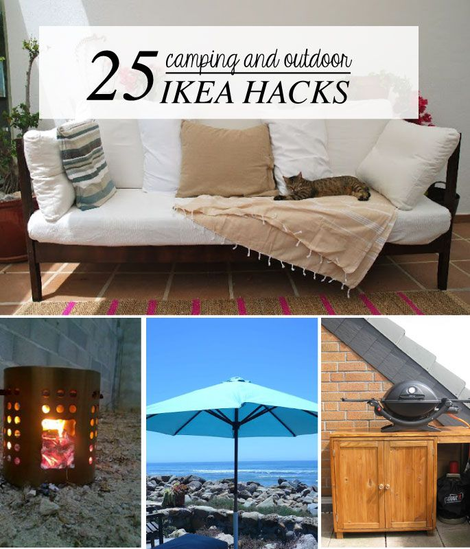 25 camping outdoor ikea hacks for summer diy m bel. Black Bedroom Furniture Sets. Home Design Ideas