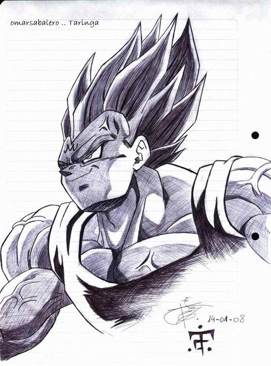 Desenho A Lapis Vegeta Dbz Desenho Desenho De Anime Desenhos