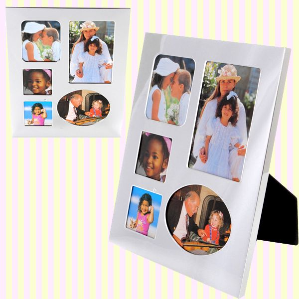 Shiny Silver Rectangular Multi Photo Frame/샤이니 패밀리 액자(세로형)