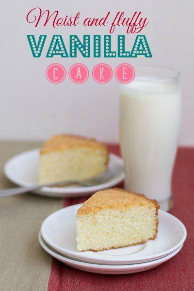 Moist-fluffy-best-simple-vanilla-cake-hot-milk-cake-indian-tea-cake-plated |kannammacooks.com #indian #tea #cake #vanilla #sponge #plain #crumb #yummy