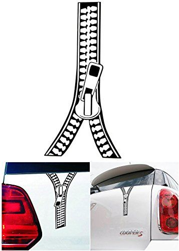 1 pc imposing unique funny zipper car window sticker windows reflective accessories decor creative door kids room wall macbook laptop art luggage m