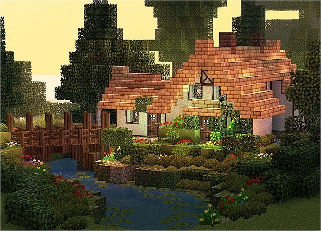 Cool Stream Cottage Minecraft Project Minecraft Gardens Download Free Architecture Designs Osuribritishbridgeorg