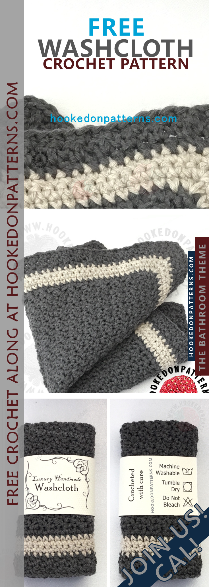 Free Crochet Washcloth Pattern | Free crochet, Crochet and Face