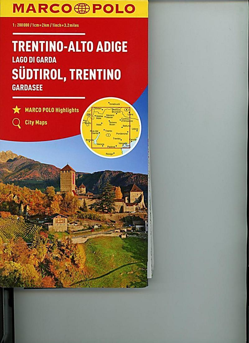 Marco Polo Karte Sudtirol Trentino Gardasee 1 200 000 Trentin