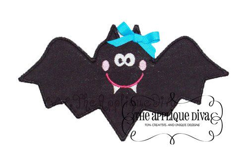 is for a Halloween Bat Girl Embroidery Design Machine Applique - halloween design