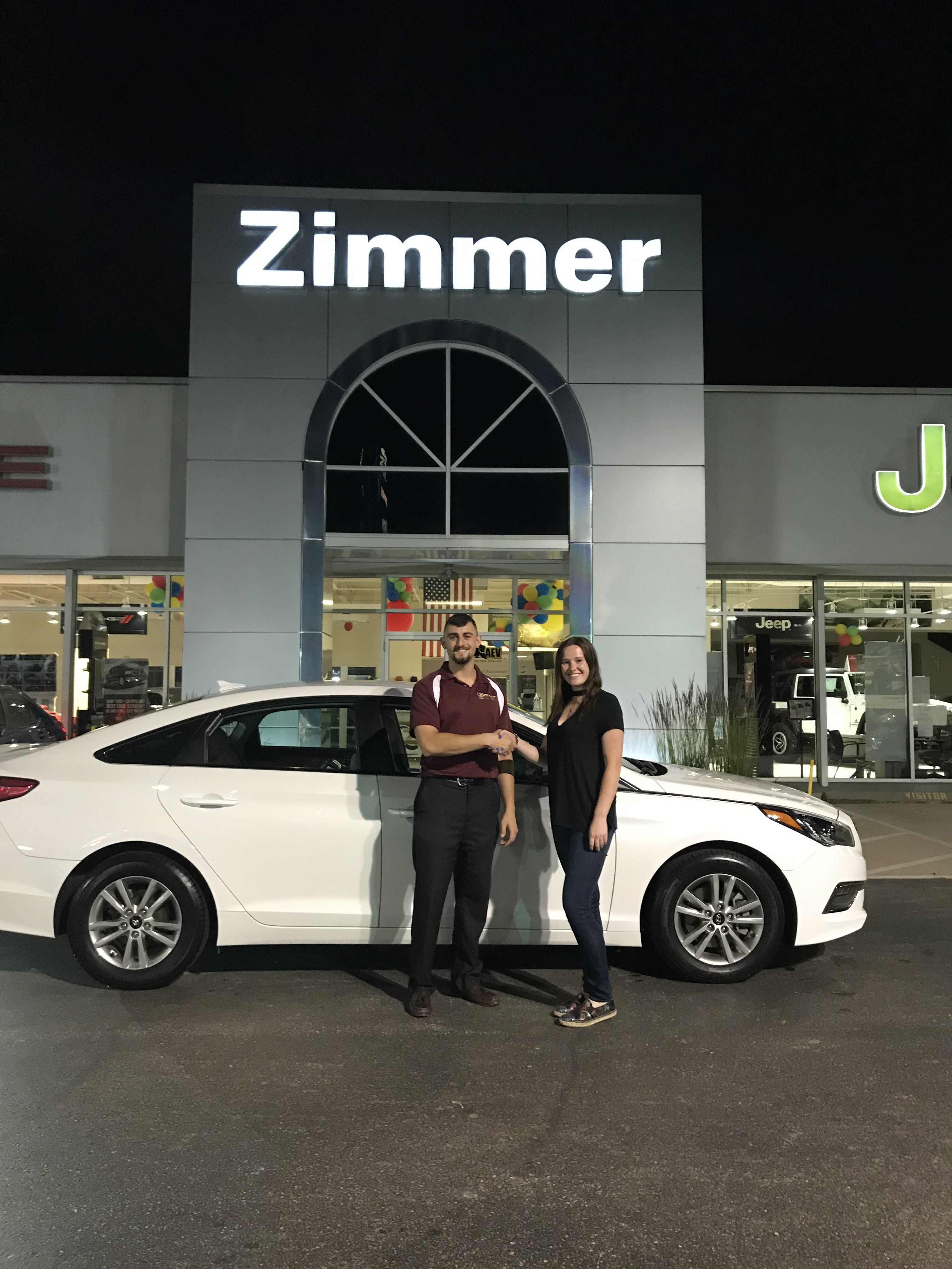 At Zimmer Cdjr We Work Late To Make Our Clients Happy Paige Thompson Came By After Work To See Our Selection Of Chrysler Dodge Jeep Car Dealership Jeep Dealer