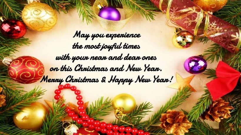 Merry Christmas And Happy New Year 2020 Wishes Images