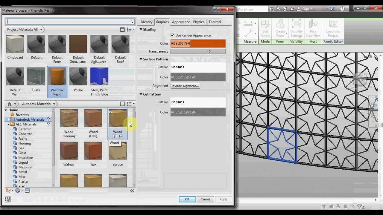 Revit Tutorial : Parametric With Pattern ( ARABIC