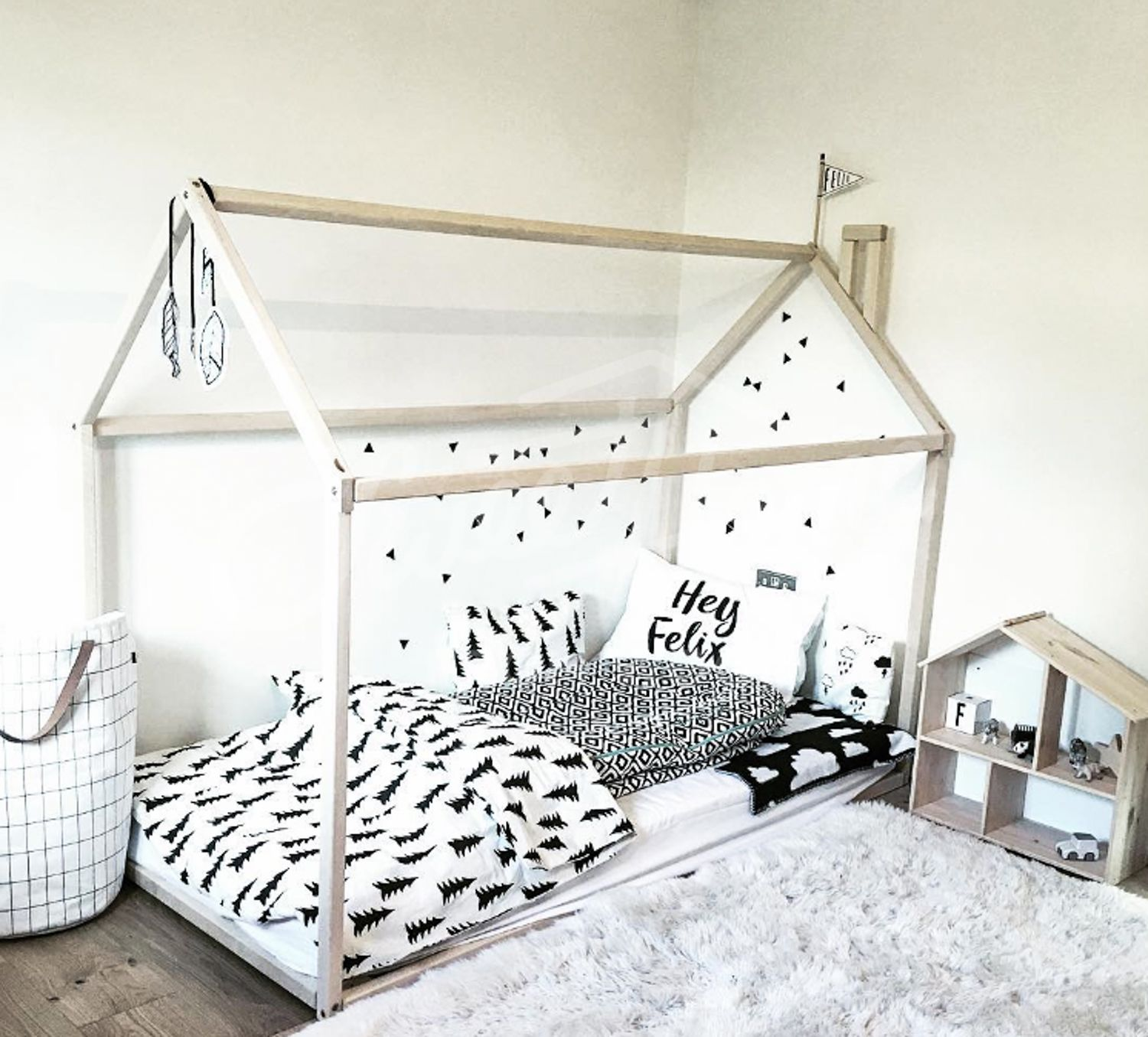 Toddler Bed House Bed Children Bed Wooden House Tent Bed Wood