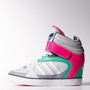 ee71bbf1474b Adidas Women s Amberlight Up Wedge Grey Pink M21164
