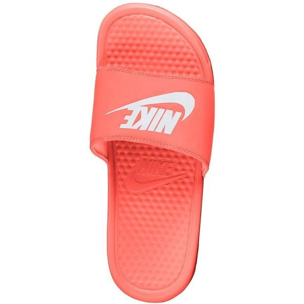 21271dbcd7b3 Nike Benassi JDI Women s Slide Sandals ( 25) ❤ liked on Polyvore featuring  shoes