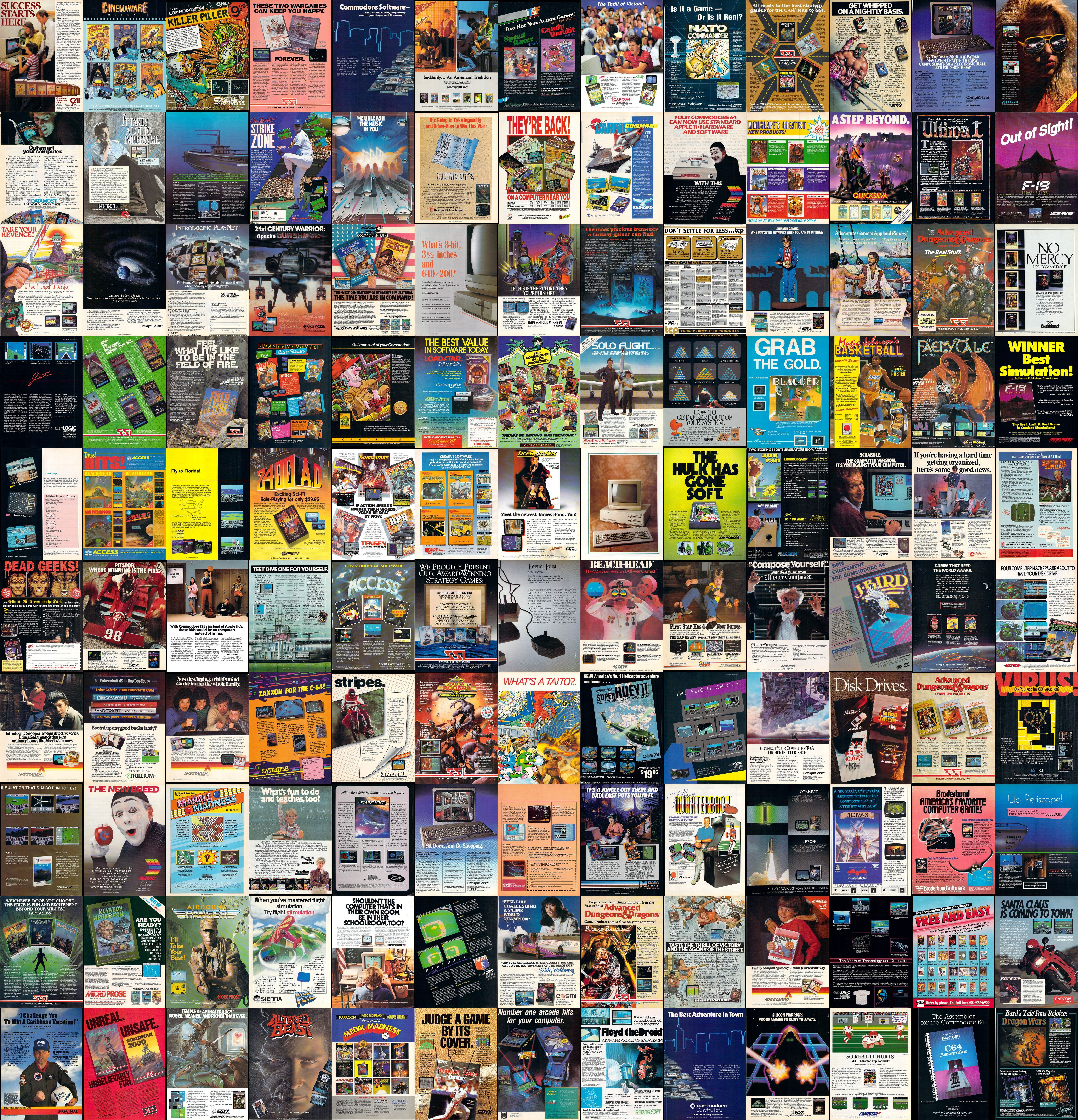 commodore 64 game ads wallpaper image | gaming | Video game