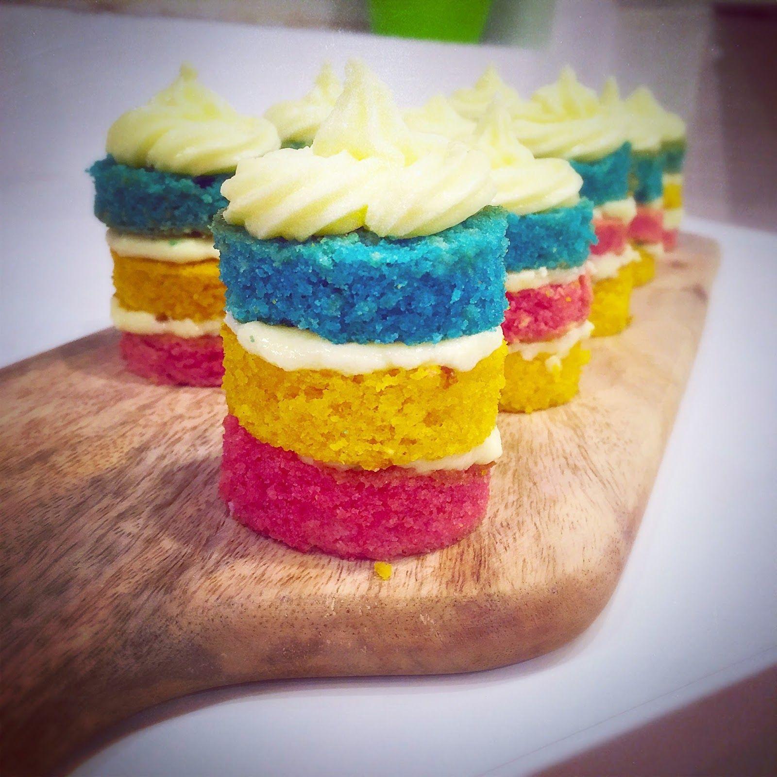 EatLoveLive Mini Naked Rainbow Lemon Layer Cake Recipe Naked