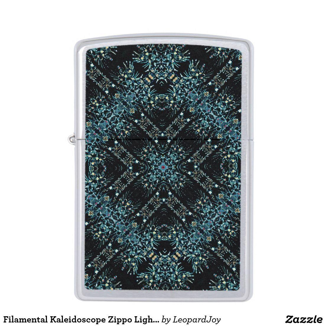 Filamental Kaleidoscope Zippo Lighter, by Joy McKenzie, on zazzle.com