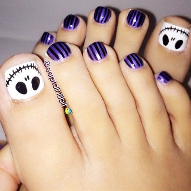 jack toes | Jack skellington, Toe nail designs and Pedicures