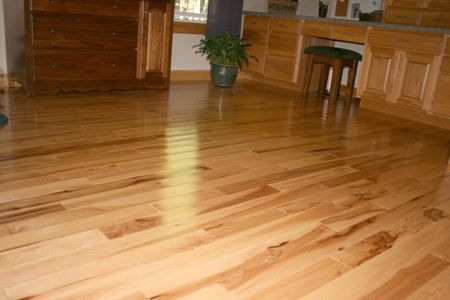 Prefinished Hickory Hardwood Flooring Clear Grade Hickory Hardwood Flooring Is Free Of Knots And Mineral Str Hickory Hardwood Floors Hardwood Floors Flooring