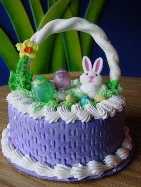 Learn how to make an easter basket cake food for my grandsons i learn how to make an easter basket cake negle Images
