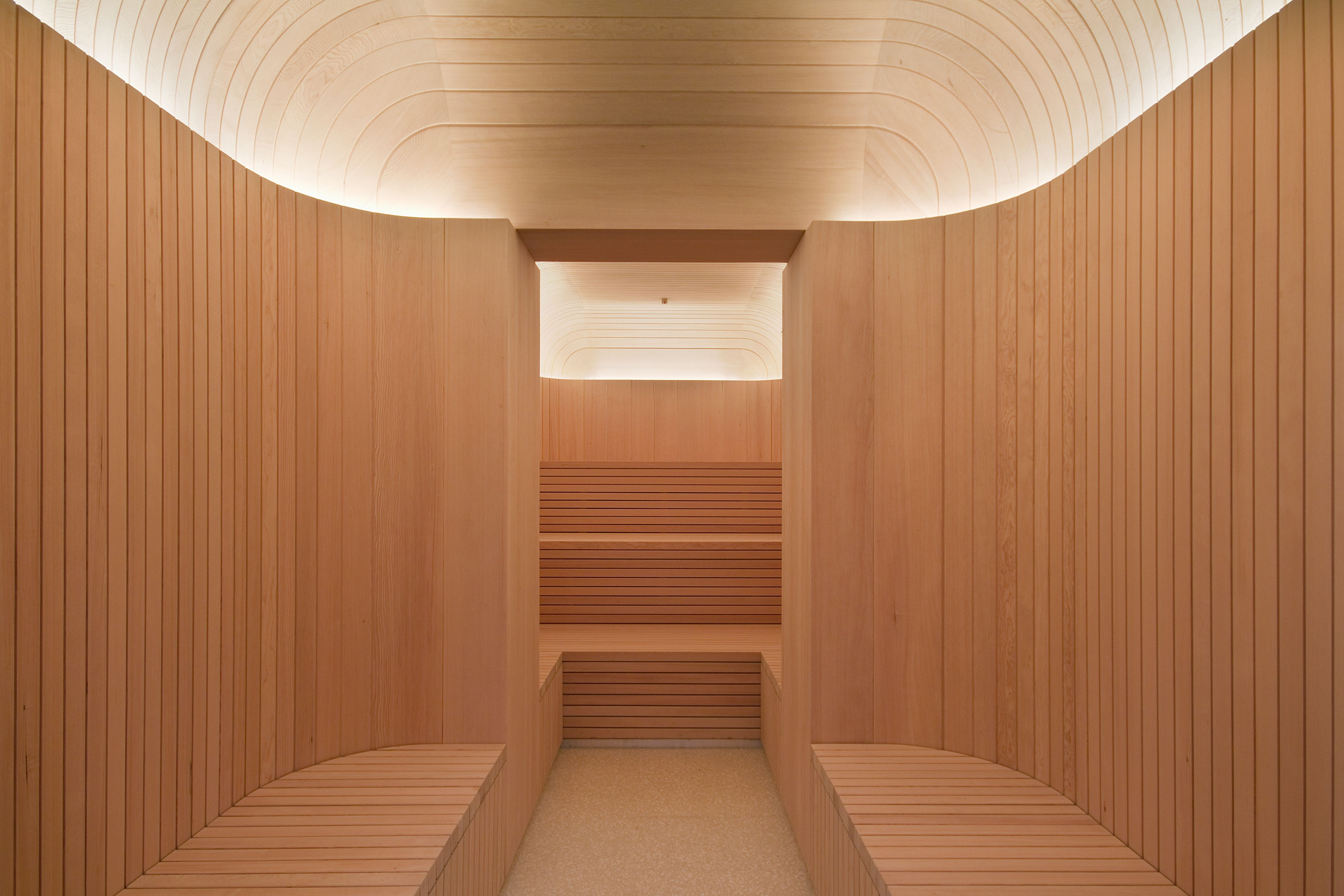 Custom Made Sauna For Caf Royal, London Designed By David