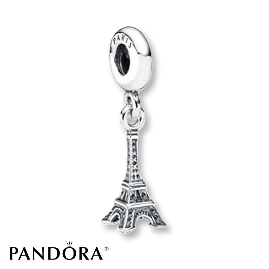 Jared PANDORA Dangle Charm Eiffel Tower Sterling Silver REMINDS