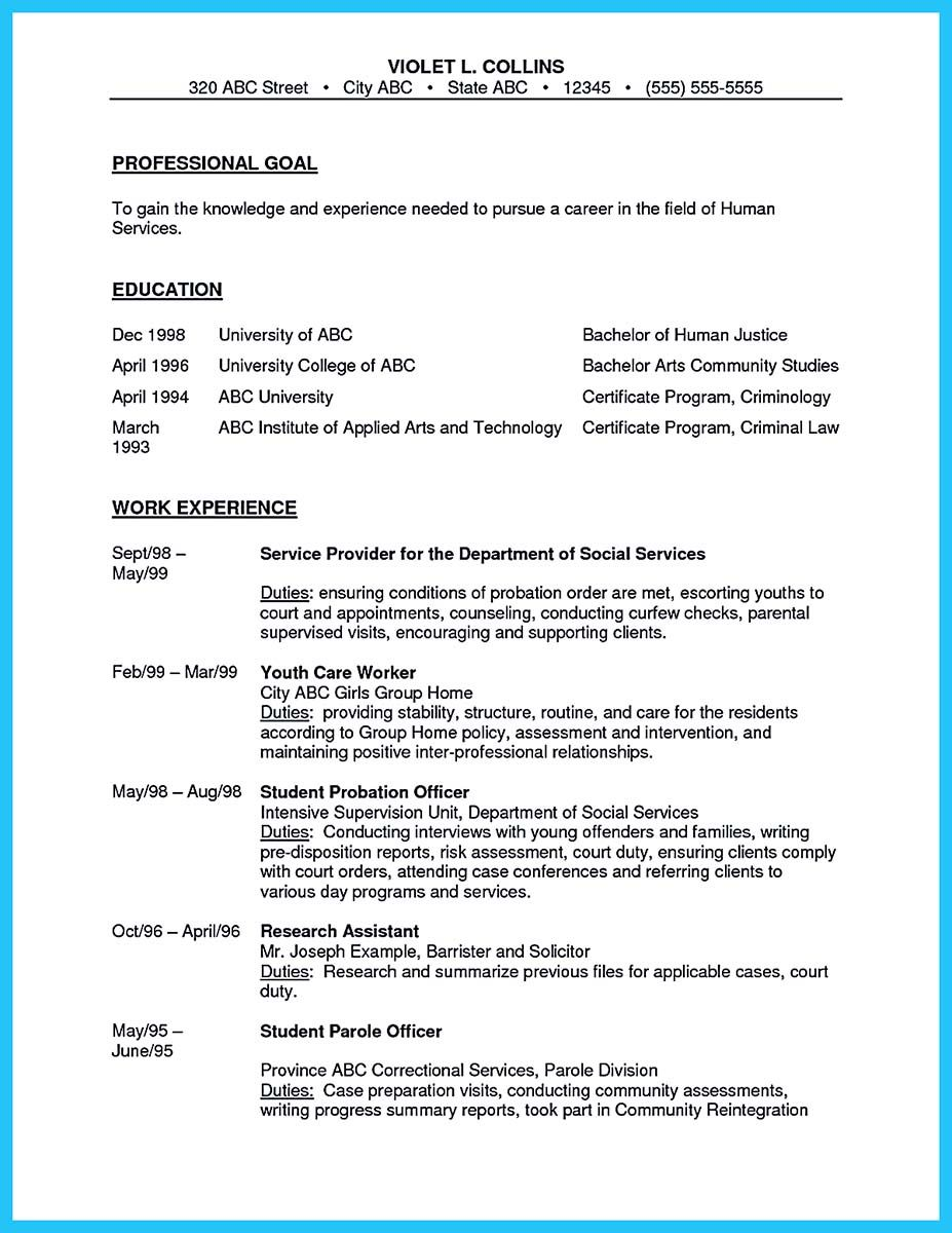 cool Perfect Correctional Officer Resume to Get Noticed