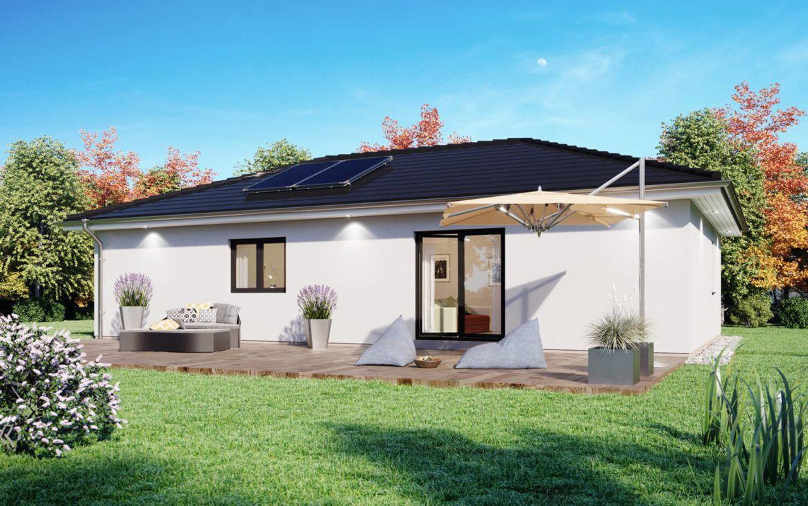 Bungalow Haus schmal mit Walmdach Architektur, 100 qm, 4