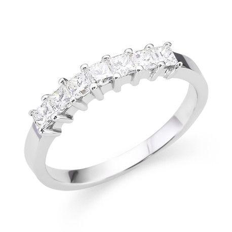 Princess Diamond Wedding and Anniversary Rings Andrews Jewelers