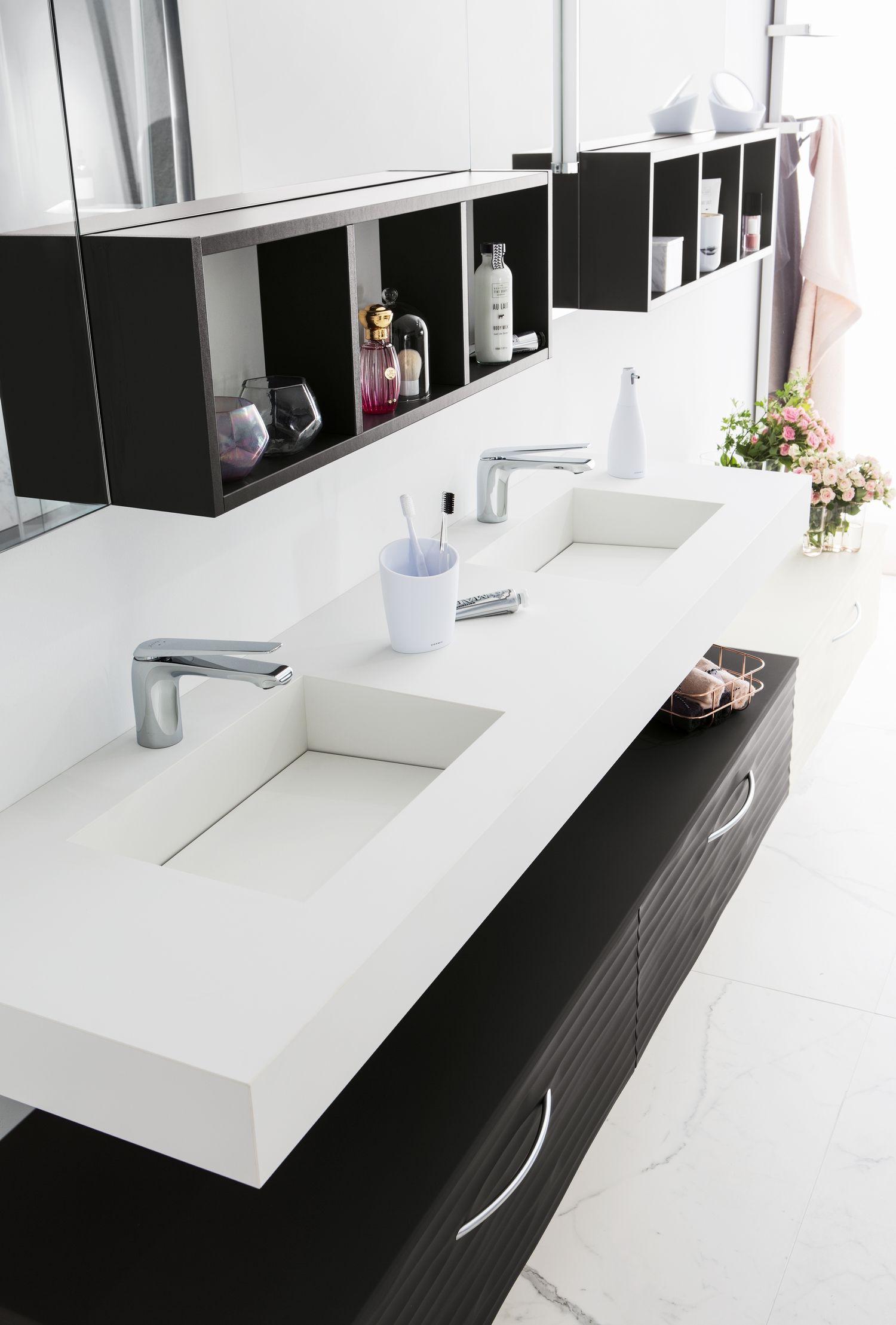 Credence Corian Sur Mesure ambiance design | salle de bain design, salle de bain et