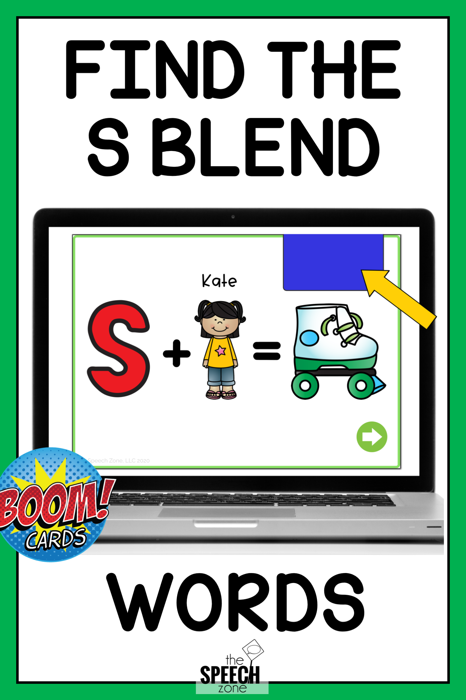 S Blend Minimal Pairs Boom Cards In
