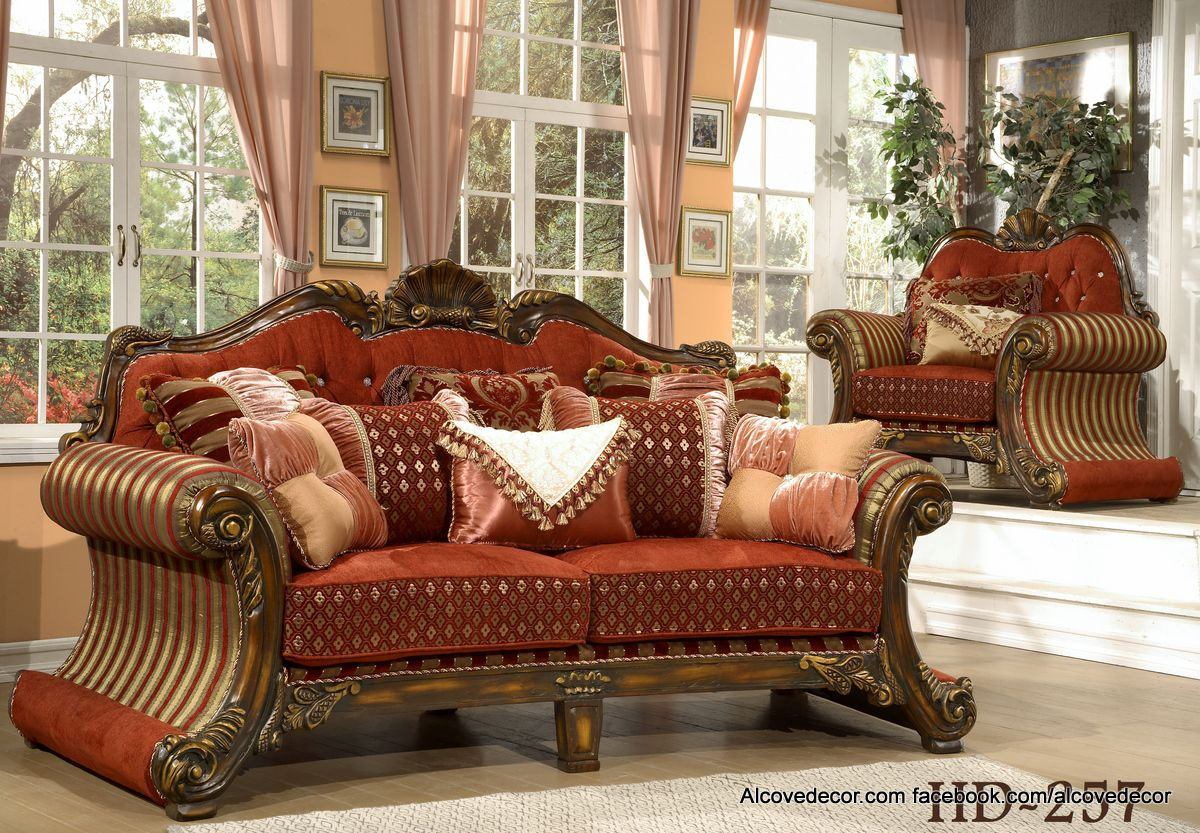 Homey Design Hd 257 Sofa Set Facebook Com Alcovedecor We Will Beat Any Price Formal Living Room Furniture Living Room Upholstered Chairs Elegant Sofa Sets