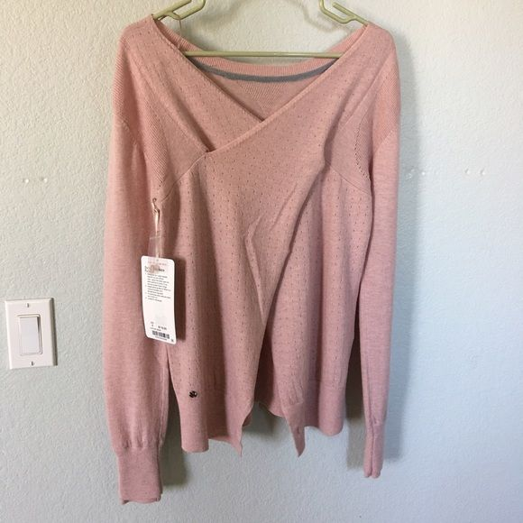 Sunset Savasana Pullover sz 6 Light pink, 100% merino wool lululemon athletica Sweaters Crew & Scoop Necks