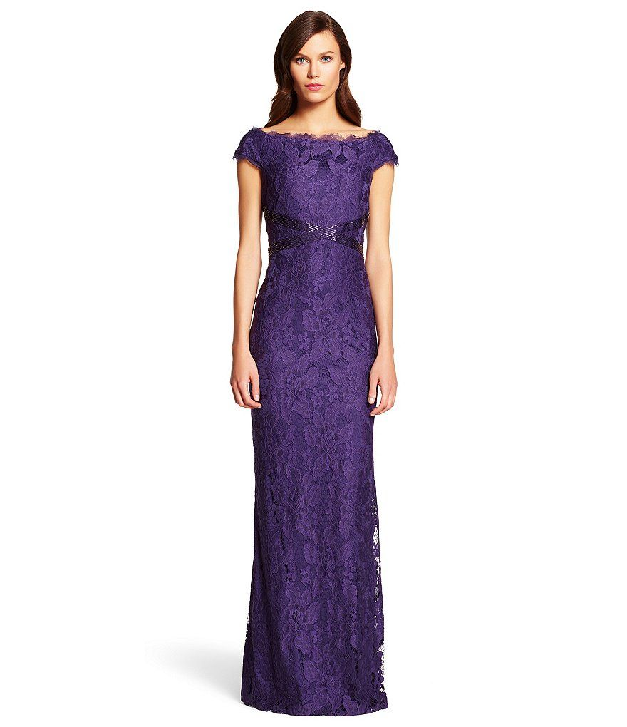 Adrianna Papell Beaded Waist Boat Neck Gown | Prince Rogers Nelson ...