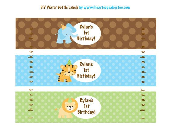 Jungle Animals Favor Tags Party Treat Bag Label Sticker First Birthday Animal Labels 1st Birthday CraftyUAE Labels INSTANT DOWNLOAD
