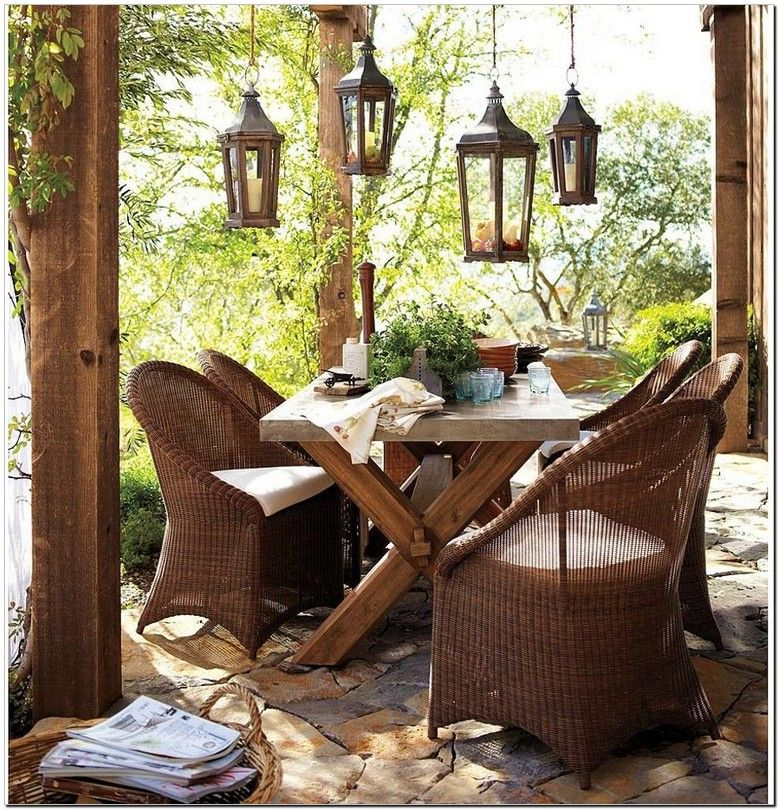 Amazing Pottery Barn Wicker Chair, in 2020 | Pottery barn outdoor furniture, Rustic outdoor ...