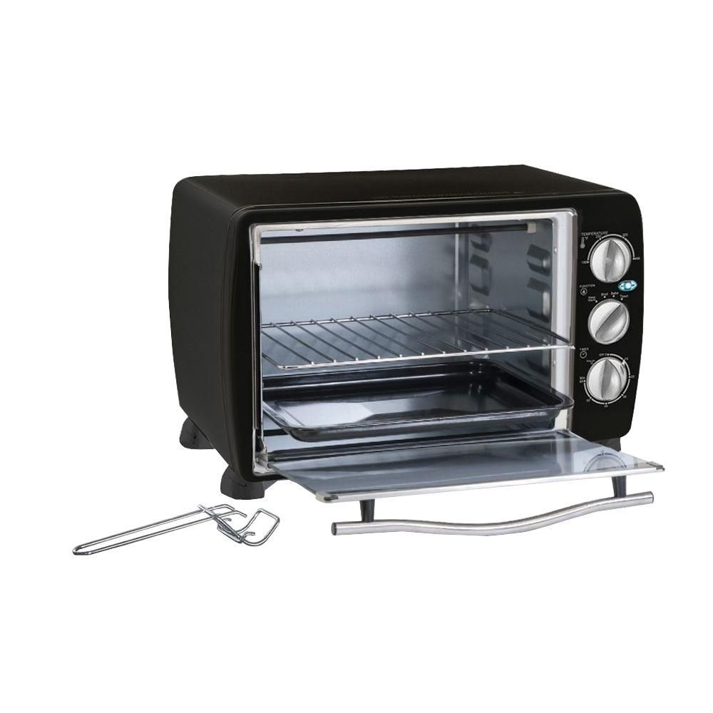 Black 6-Slice Toaster Oven | Products | 6 slice toaster