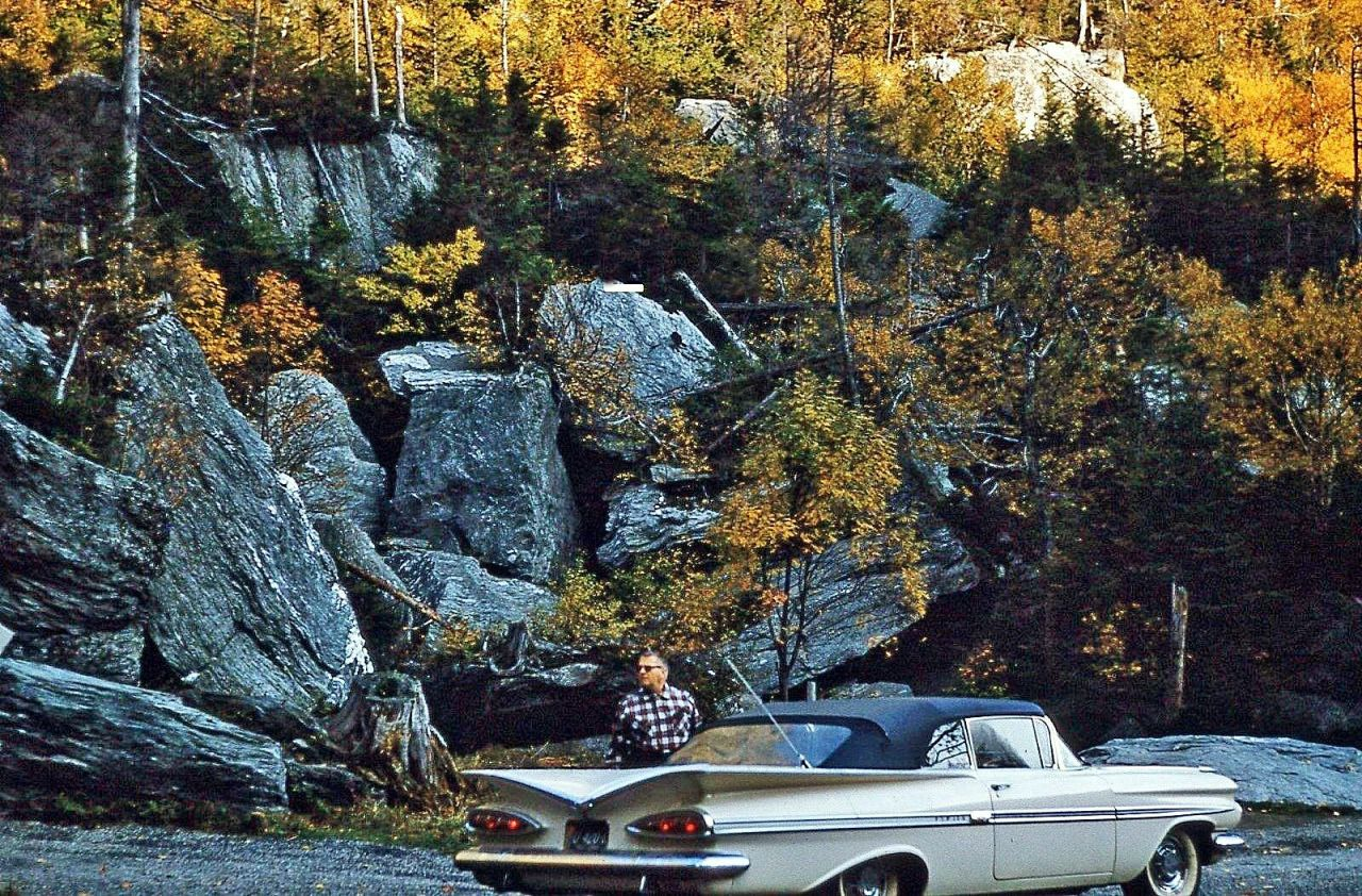 "prova275: ""Fall Impala… 1959 Chevy convertible out in the boonies """