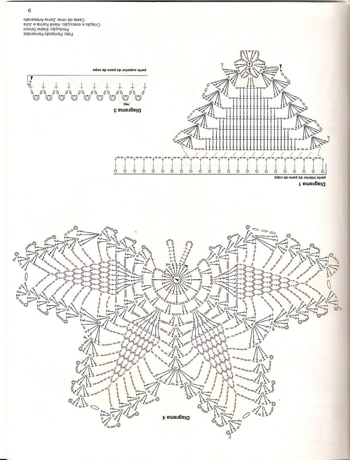 Grafico De Croche Deborboleta Para Pano De Prato Pesquisa Google