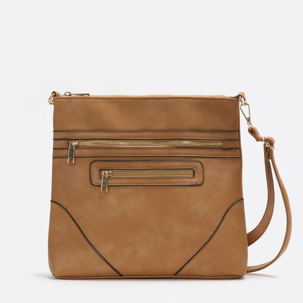 Camel cross-body bag