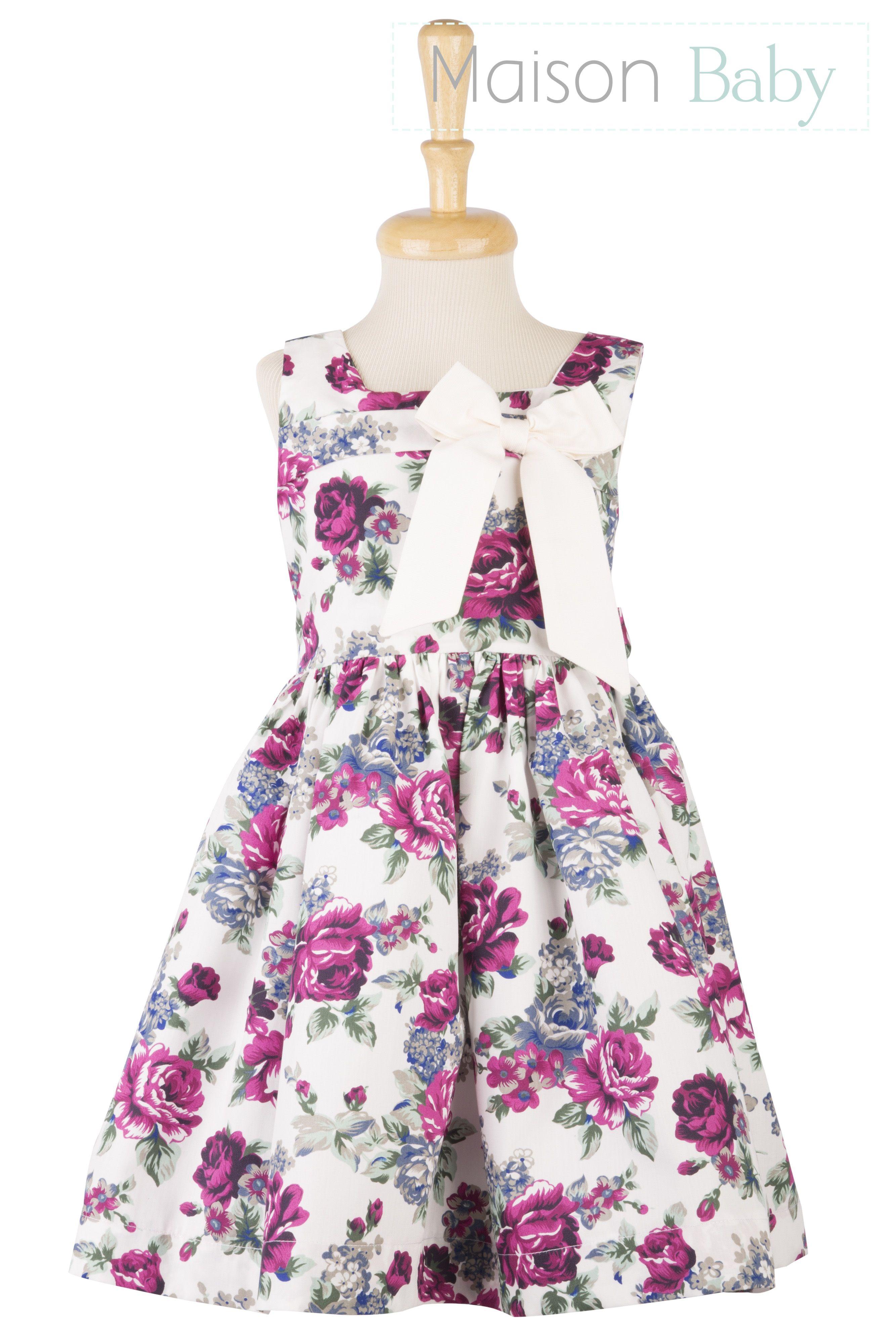 Vestido infantil florido parte da nova coleção da Maison Baby. Beautiful floral dress for toddlers. #vestidoinfantilfloral #floraldressfortoddlers