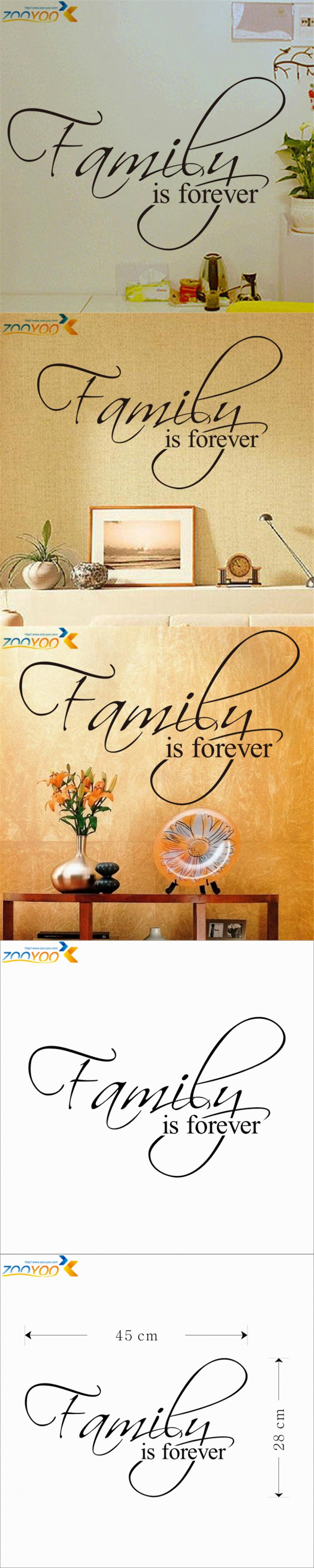 Family Is Forever home decor creative quote wall decal ZooYoo8068 ...
