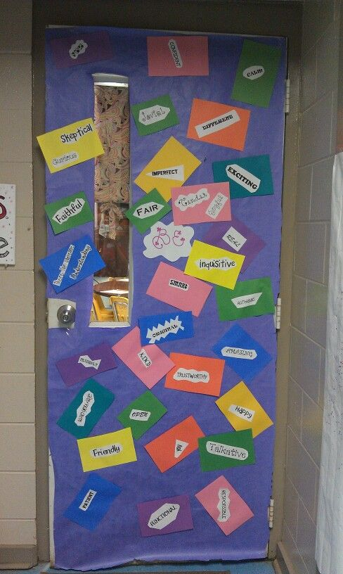 Positive learning environment at the entrance!