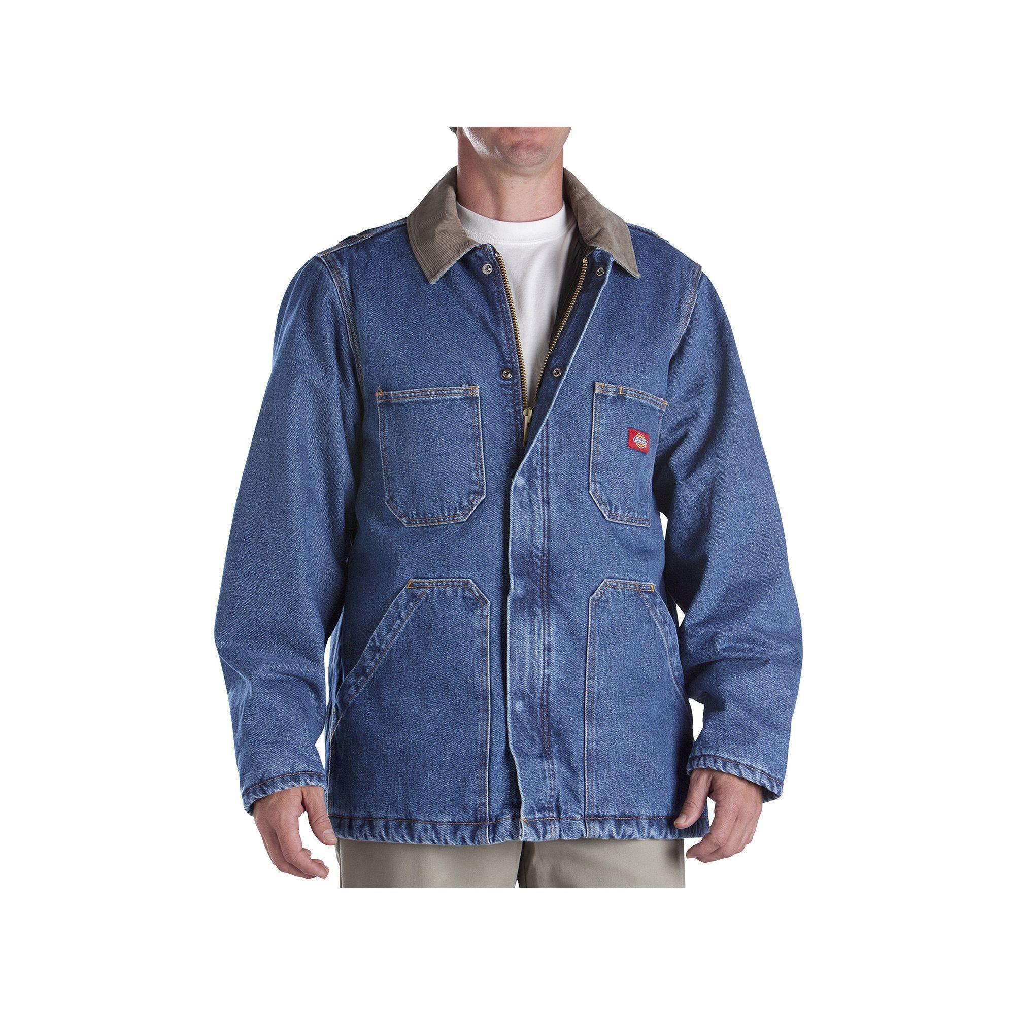 Men's Dickies Denim Chore Jacket, Size: Medium, Blue