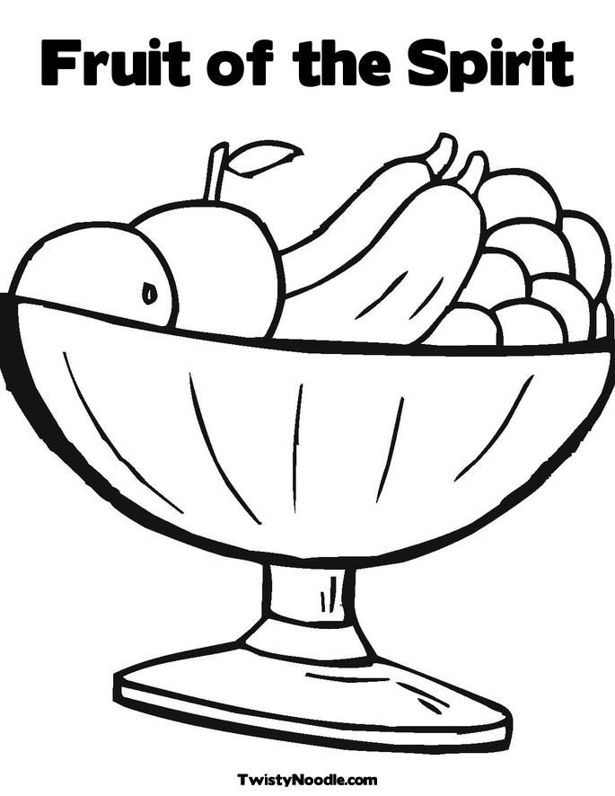 Fruit Bowl Coloring Pages Fruit Coloring Pages Fruit Of The