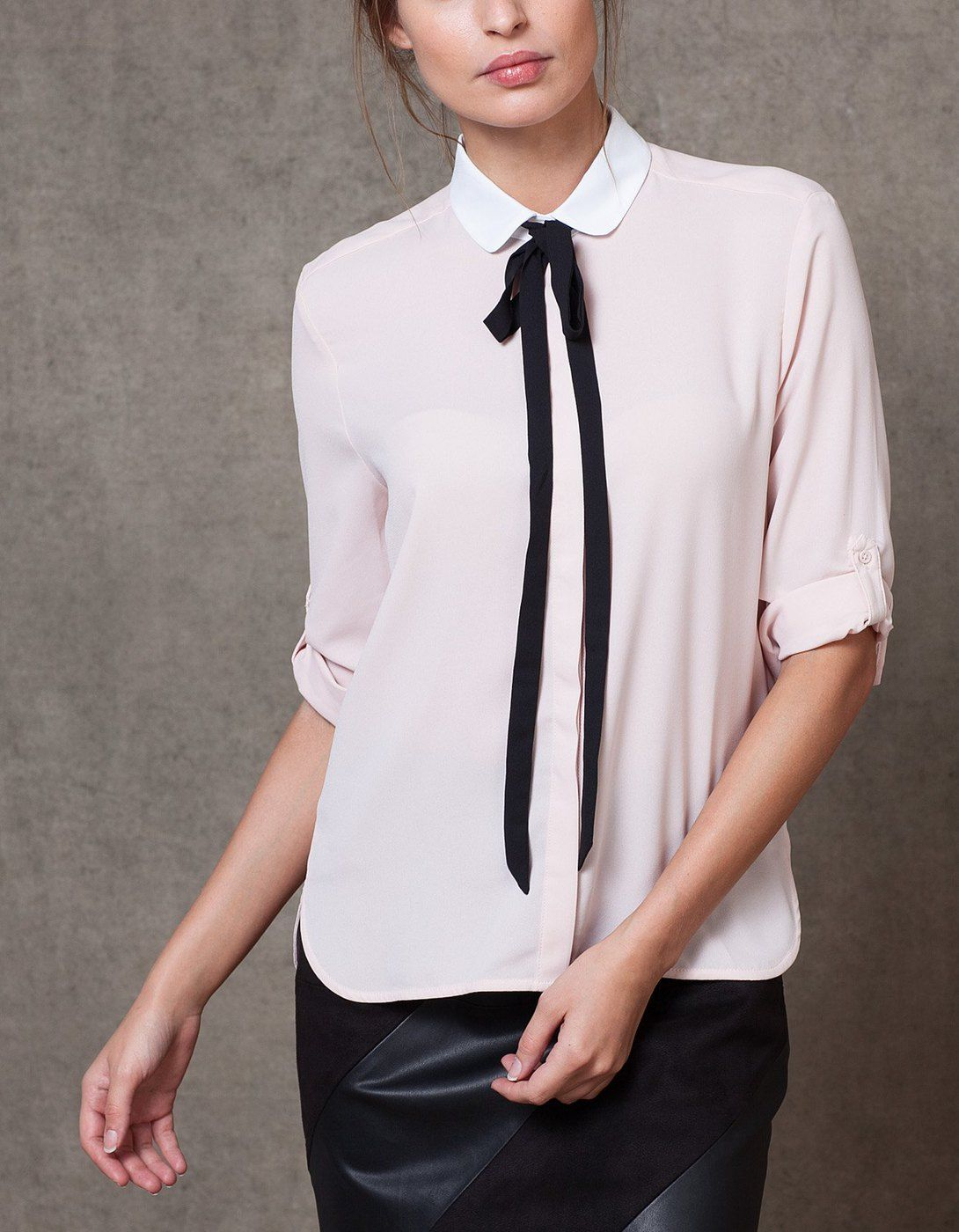 At Stradivarius you\'ll find 1 Camisa con lazo for woman for just 399 ...