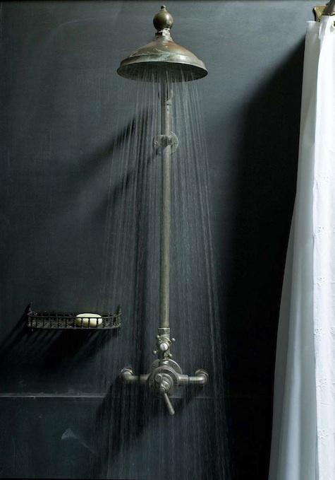 Dark, Vintage Bathroom Designs | Slate shower, Slate and Shower ...
