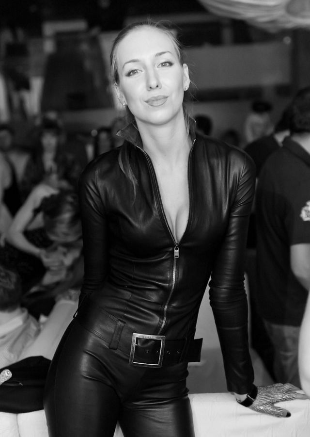 Jette Joop   Always Some Love For A Jitrois Leather Catsuit