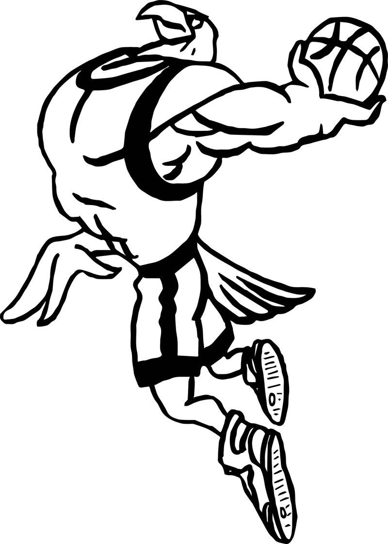 Playing Eagle Basketball Coloring Page Sports Coloring Pages Football Coloring Pages Pokemon Coloring Pages