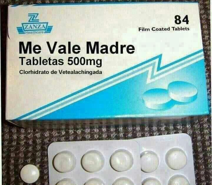 Pastillas De Me Vale Madre Funny Diabetes Treatment