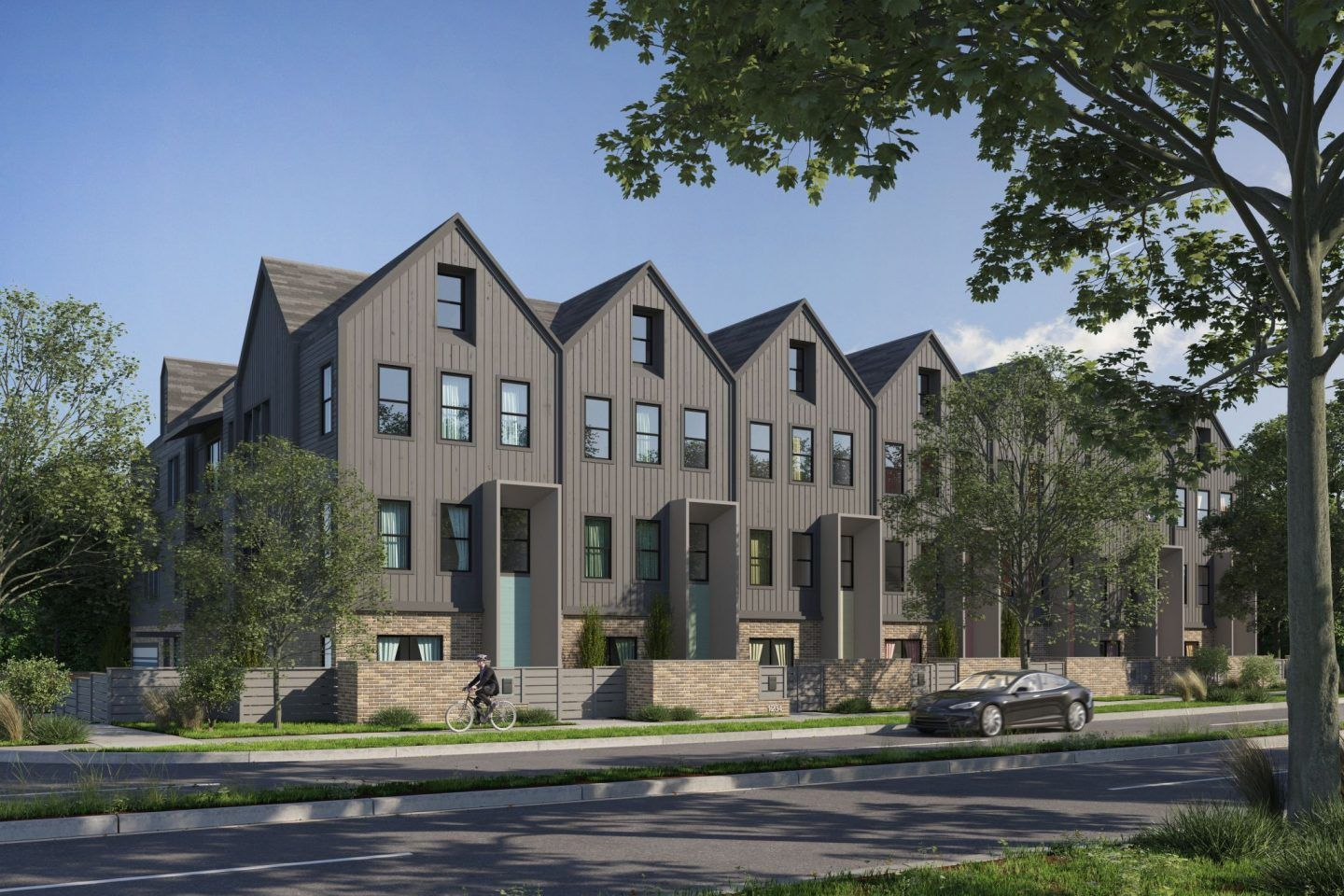 Plaza Row Townhomes | Modern townhouse, Townhouse ...