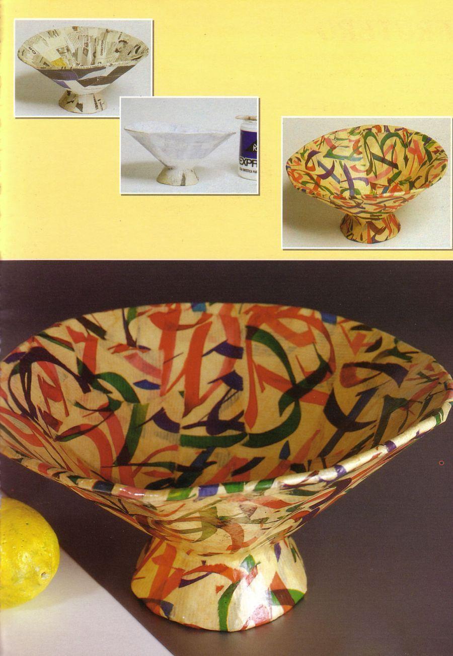 jarrones de papel decorados buscar con google