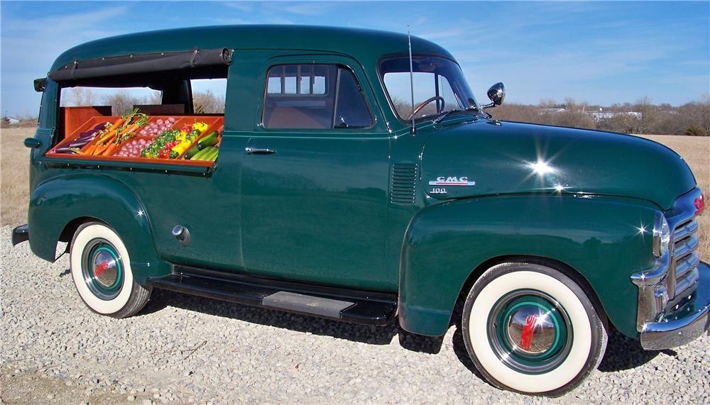 1954 Gmc 100 Canopy Express Panel Truck Chevy Trucks Cool Trucks